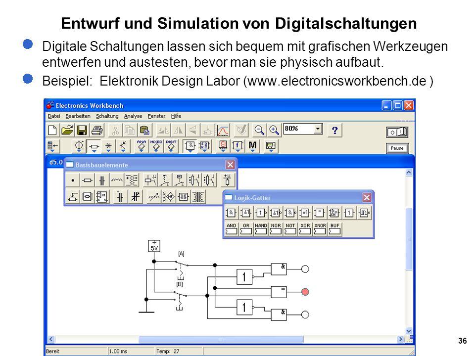 Entwurf und Simulation von Digitalschaltungen