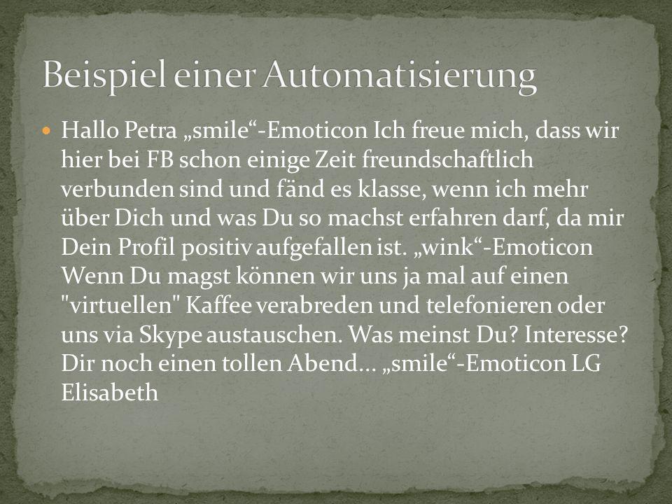Beispiel einer Automatisierung