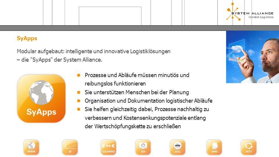 SyApps Modular aufgebaut: intelligente und innovative Logistiklösungen – die SyApps der System Alliance.
