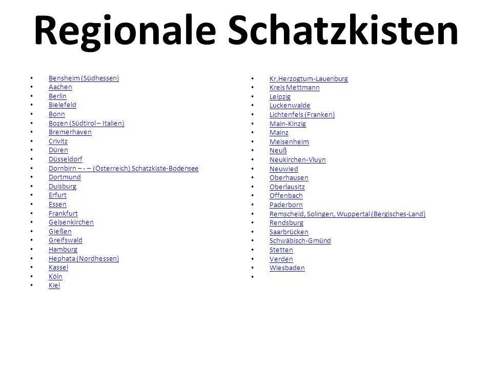 Regionale Schatzkisten