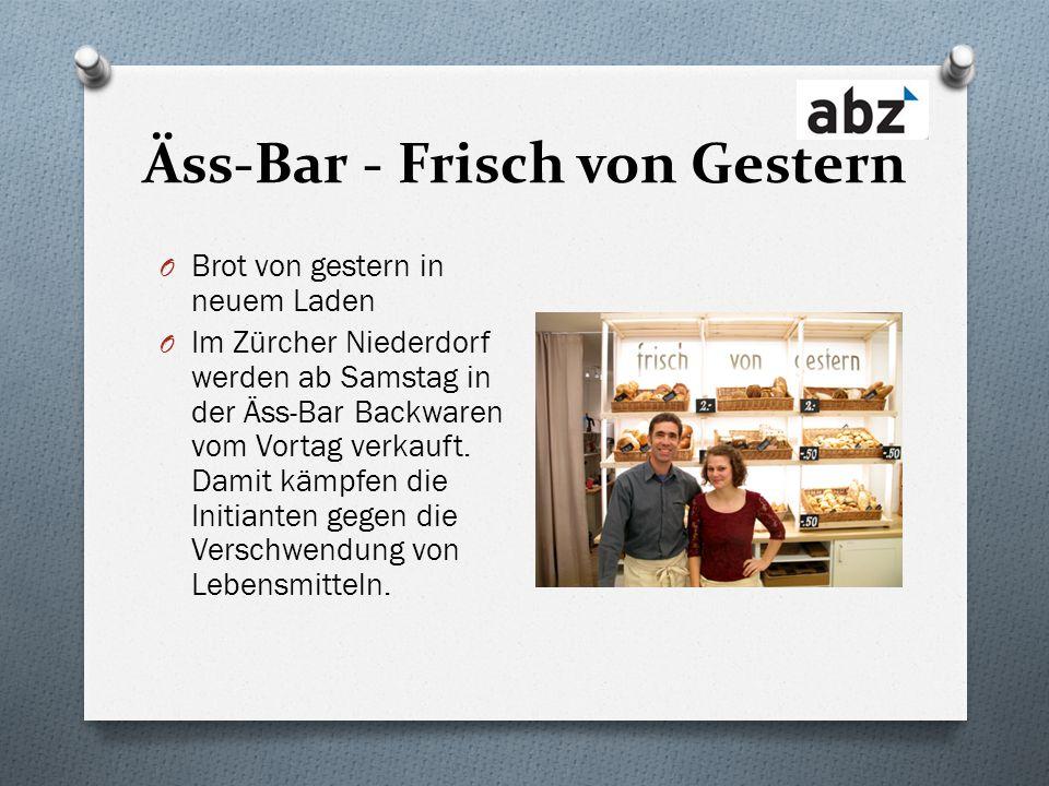Äss-Bar - Frisch von Gestern