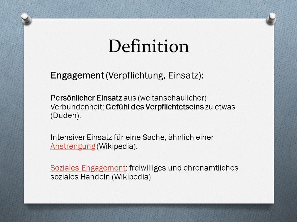Definition Engagement (Verpflichtung, Einsatz):