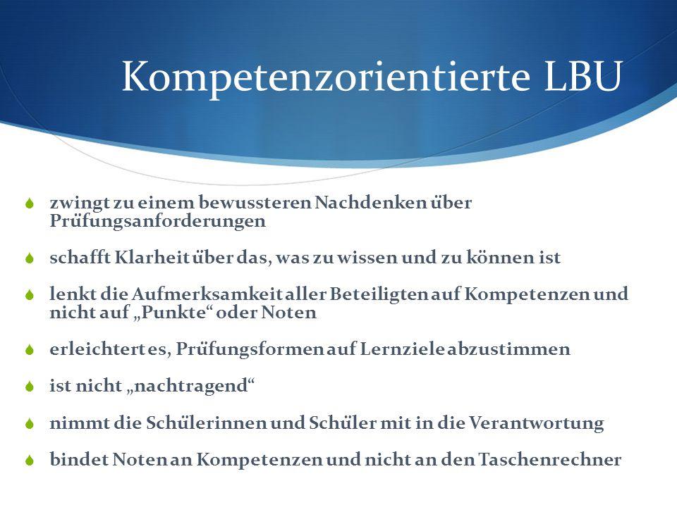 Kompetenzorientierte LBU