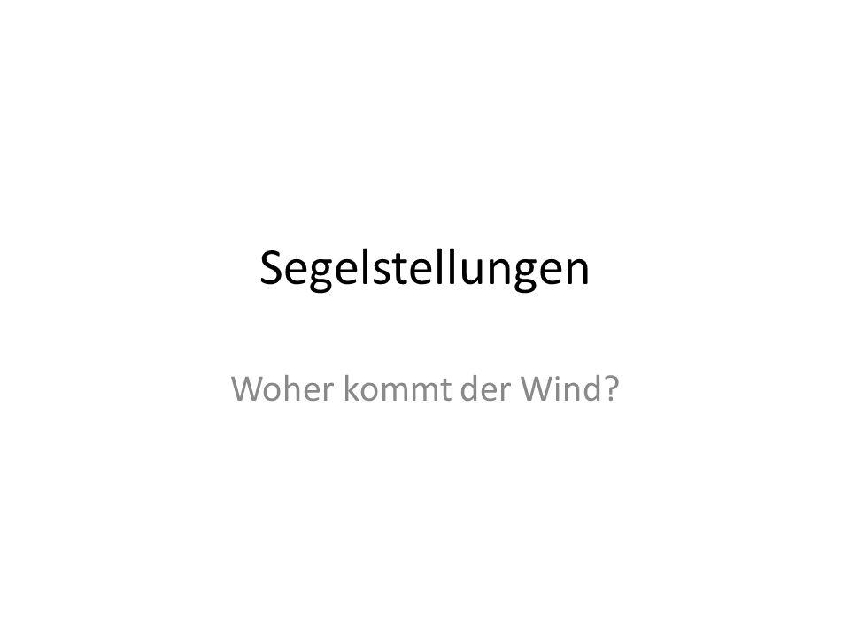 Segelstellungen Woher kommt der Wind