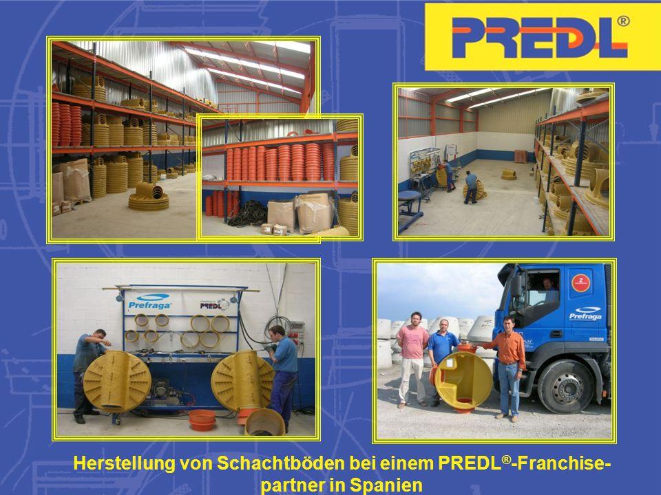 Herstellung von Schachtböden bei einem PREDL®-Franchise-partner in Spanien