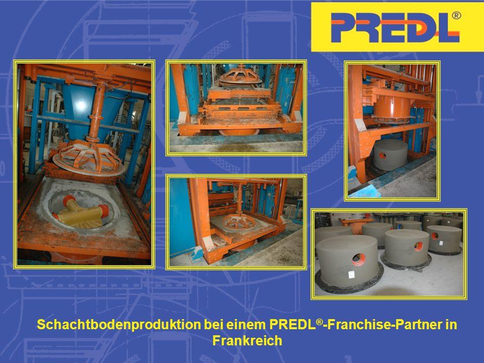 Schachtbodenproduktion bei einem PREDL®-Franchise-Partner in Frankreich