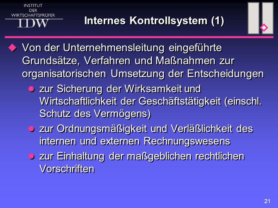 Internes Kontrollsystem (1)