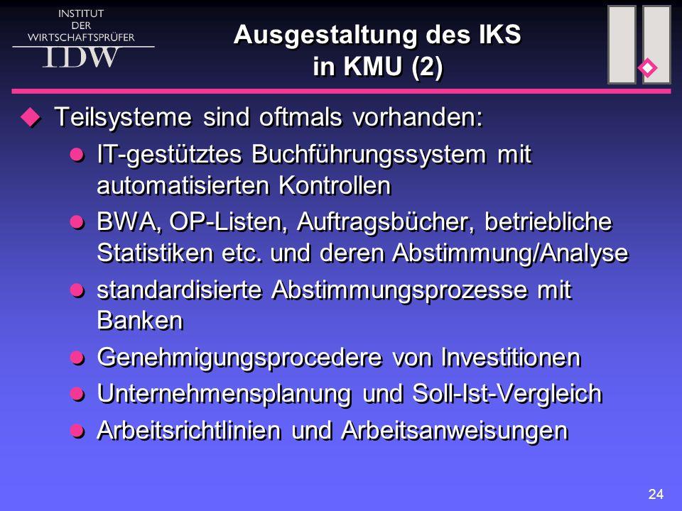 Ausgestaltung des IKS in KMU (2)