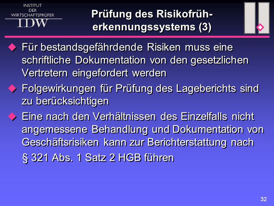 Prüfung des Risikofrüh-erkennungssystems (3)
