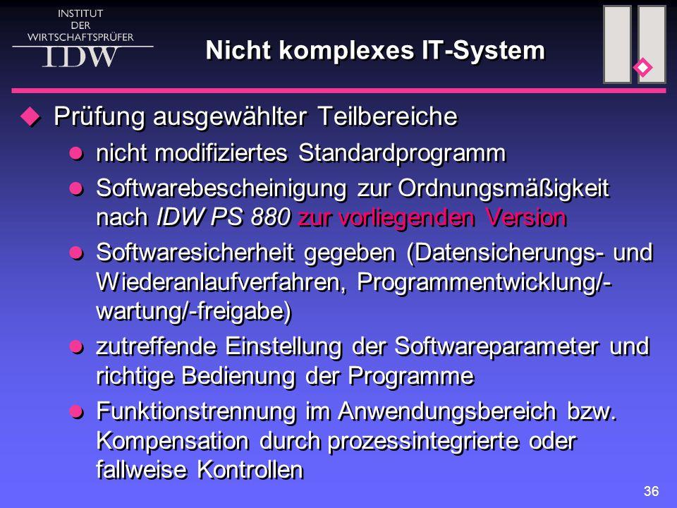 Nicht komplexes IT-System