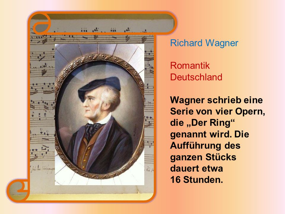 Richard Wagner Romantik Deutschland