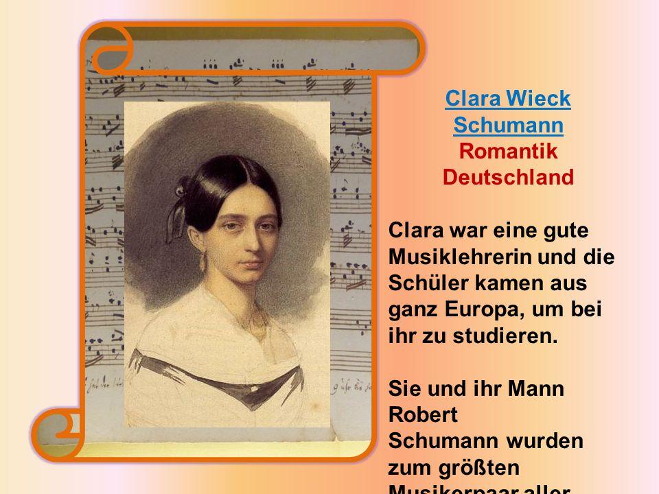 Clara Wieck Schumann Romantik Deutschland