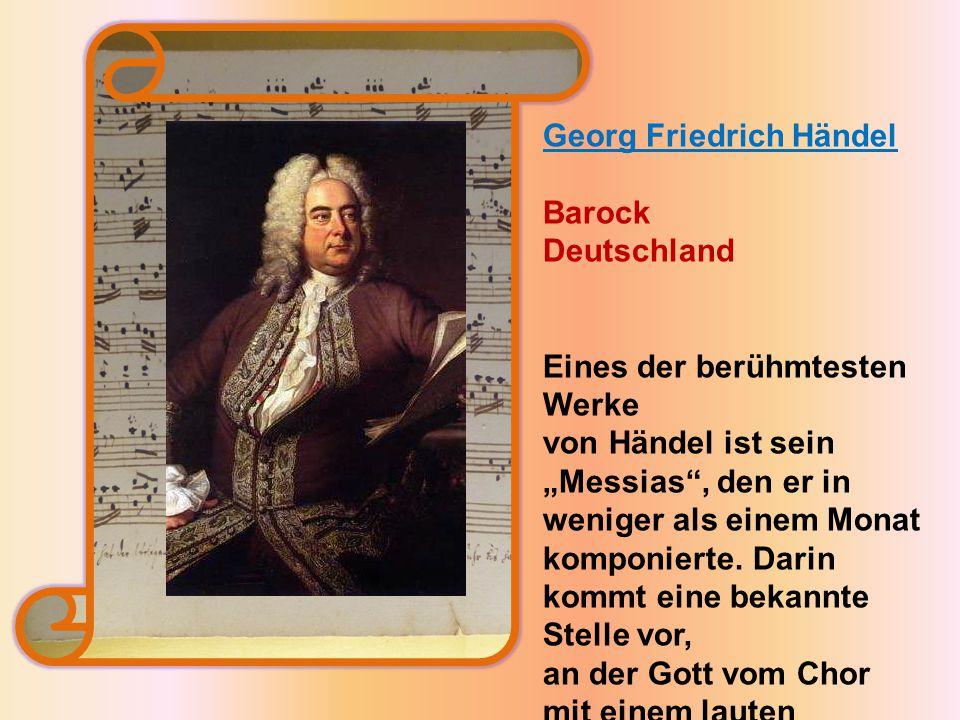 Georg Friedrich Händel Barock Deutschland
