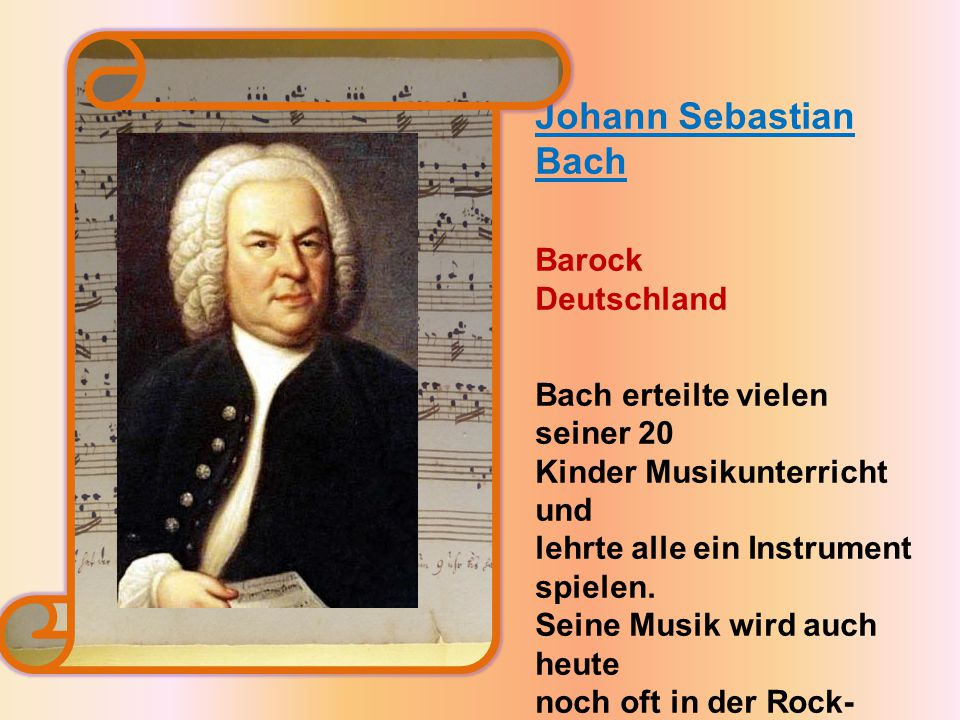 Johann Sebastian Bach Barock Deutschland