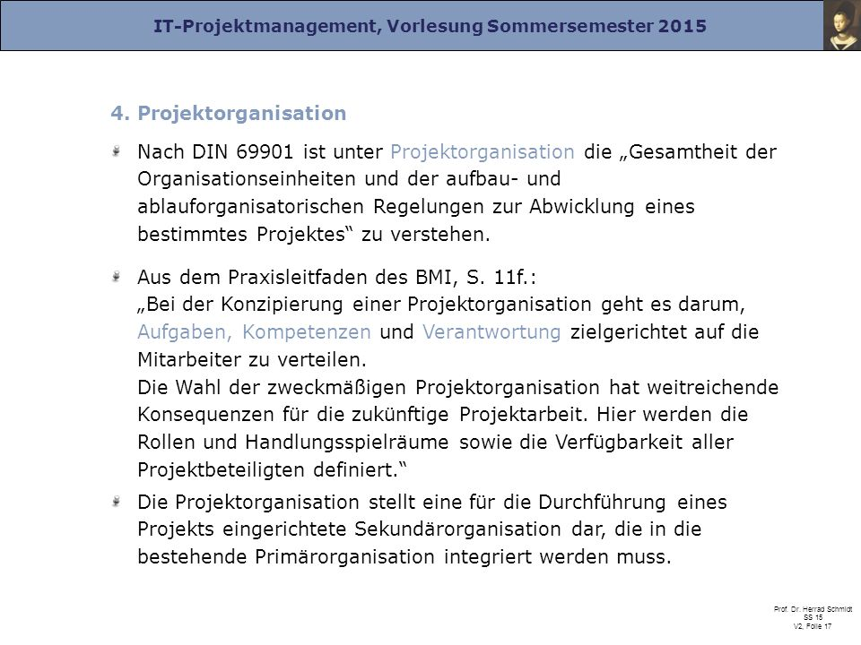 4. Projektorganisation