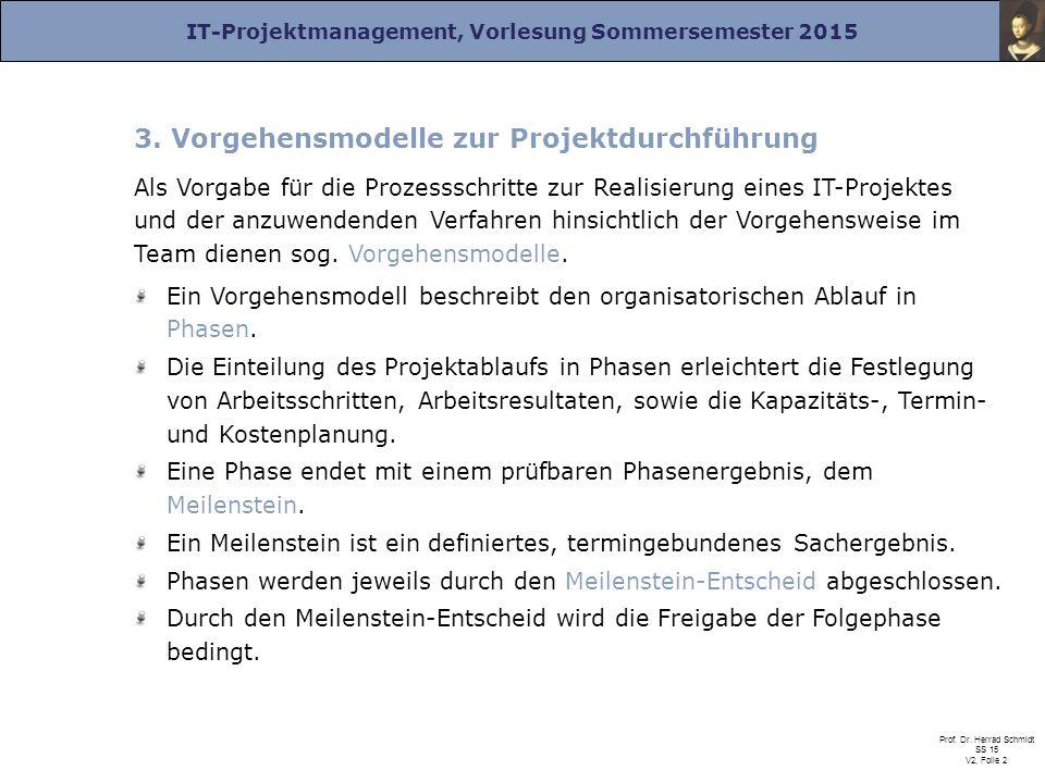 3. Vorgehensmodelle zur Projektdurchführung