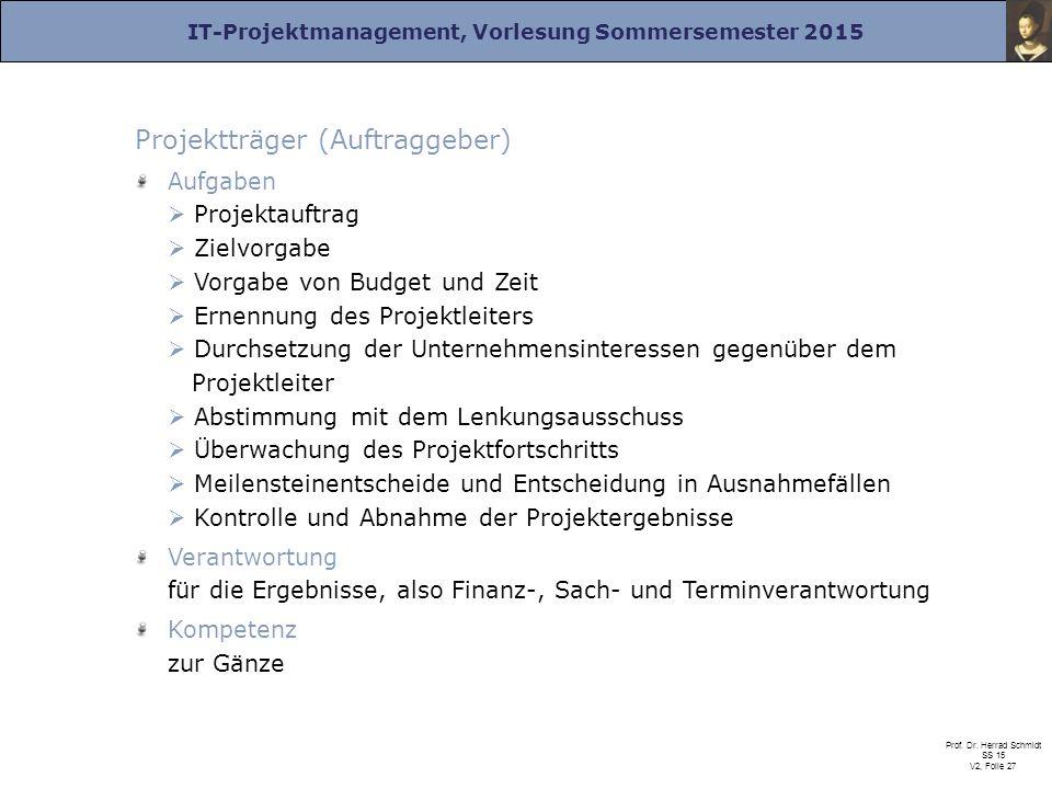 Projektträger (Auftraggeber)