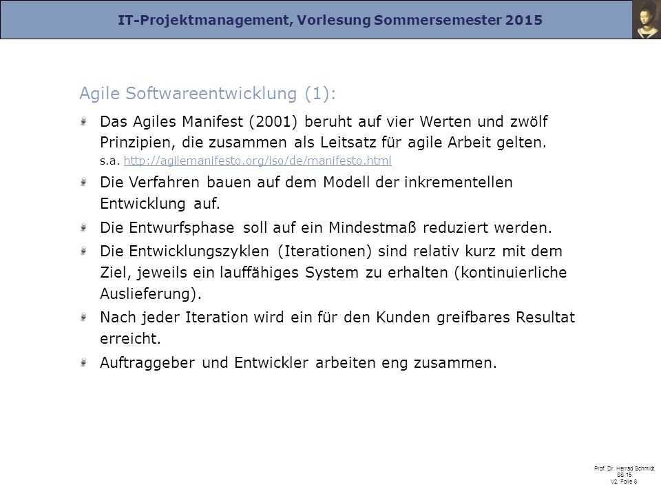 Agile Softwareentwicklung (1):