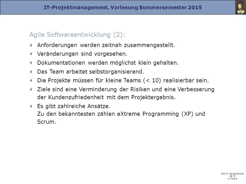 Agile Softwareentwicklung (2):