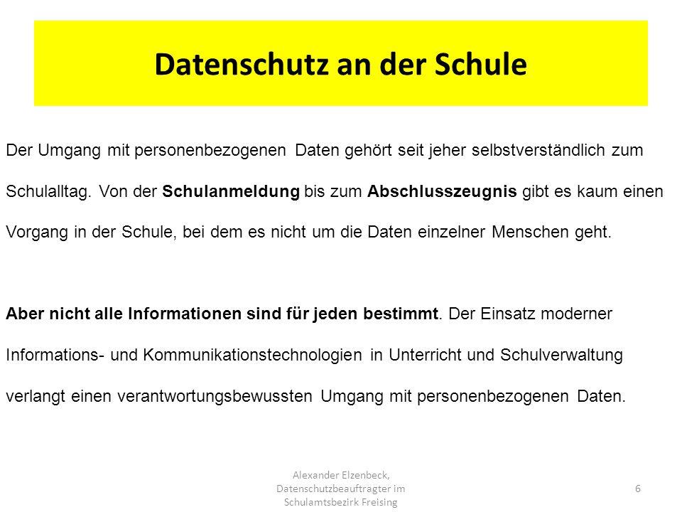 Datenschutz an der Schule
