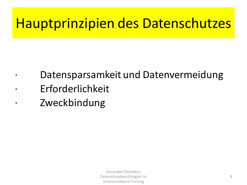 Hauptprinzipien des Datenschutzes
