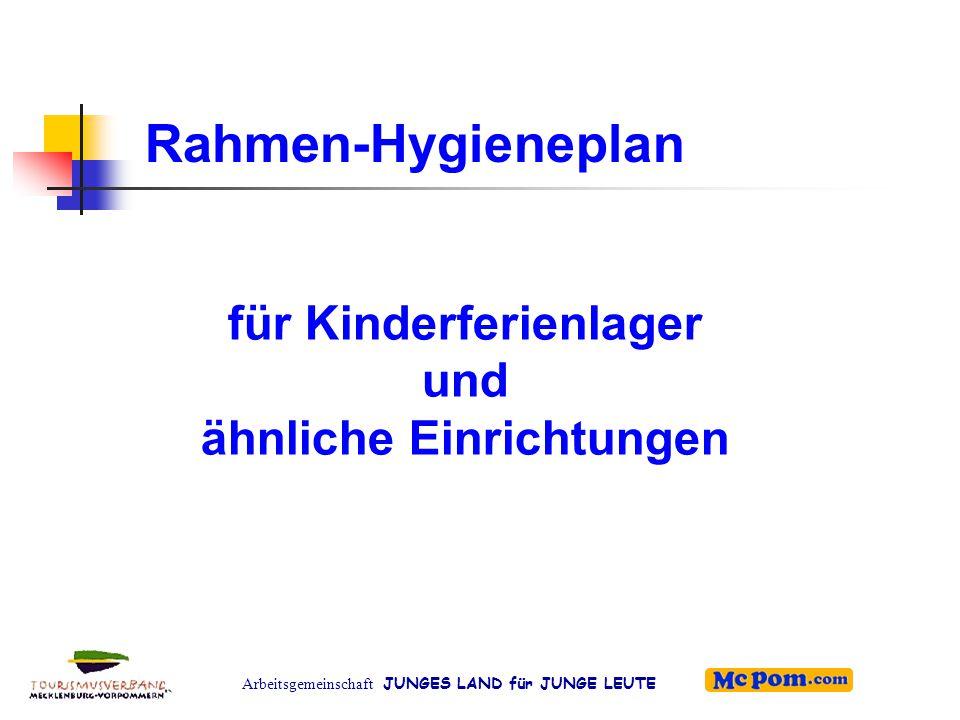 für Kinderferienlager und ähnliche Einrichtungen