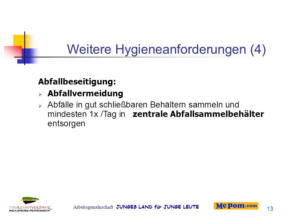 Weitere Hygieneanforderungen (4)