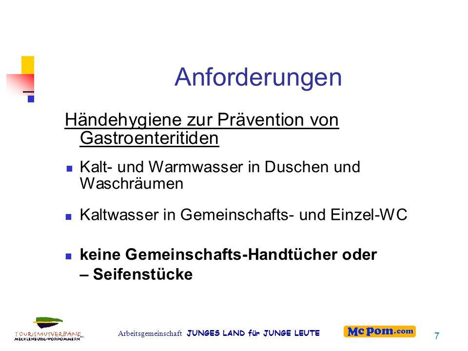 Anforderungen Händehygiene zur Prävention von Gastroenteritiden