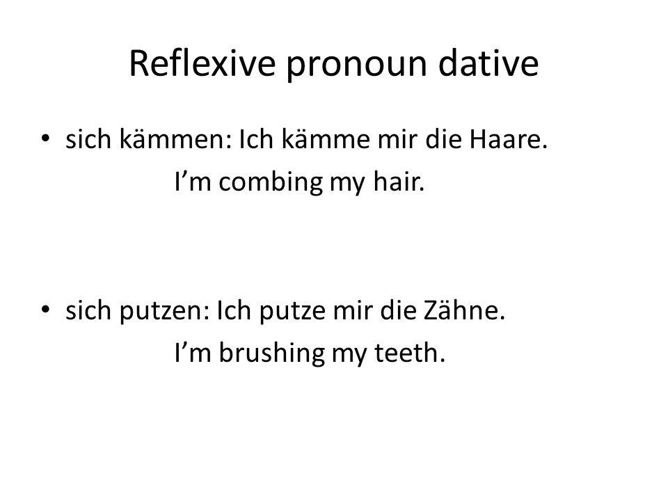 Reflexive pronoun dative