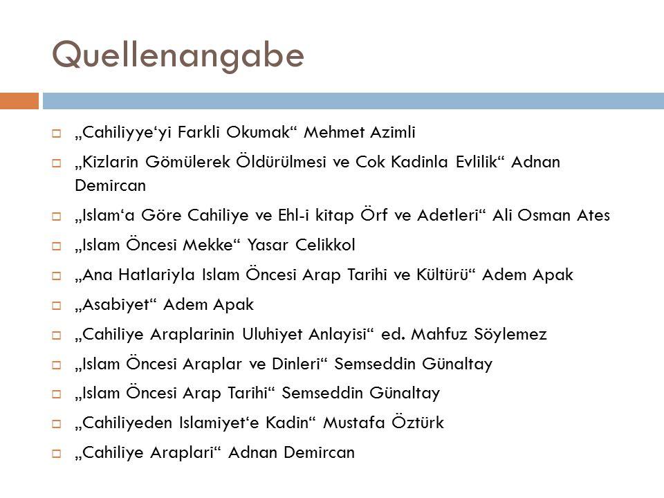 """Quellenangabe """"Cahiliyye'yi Farkli Okumak Mehmet Azimli"""
