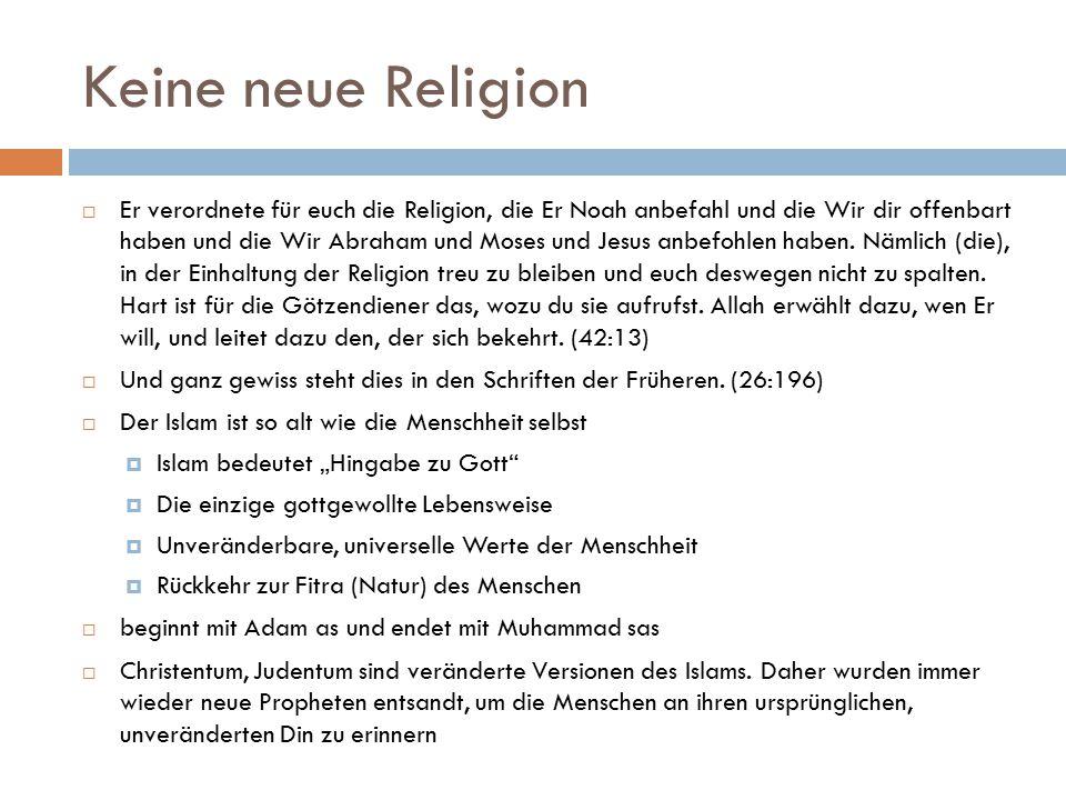 Keine neue Religion