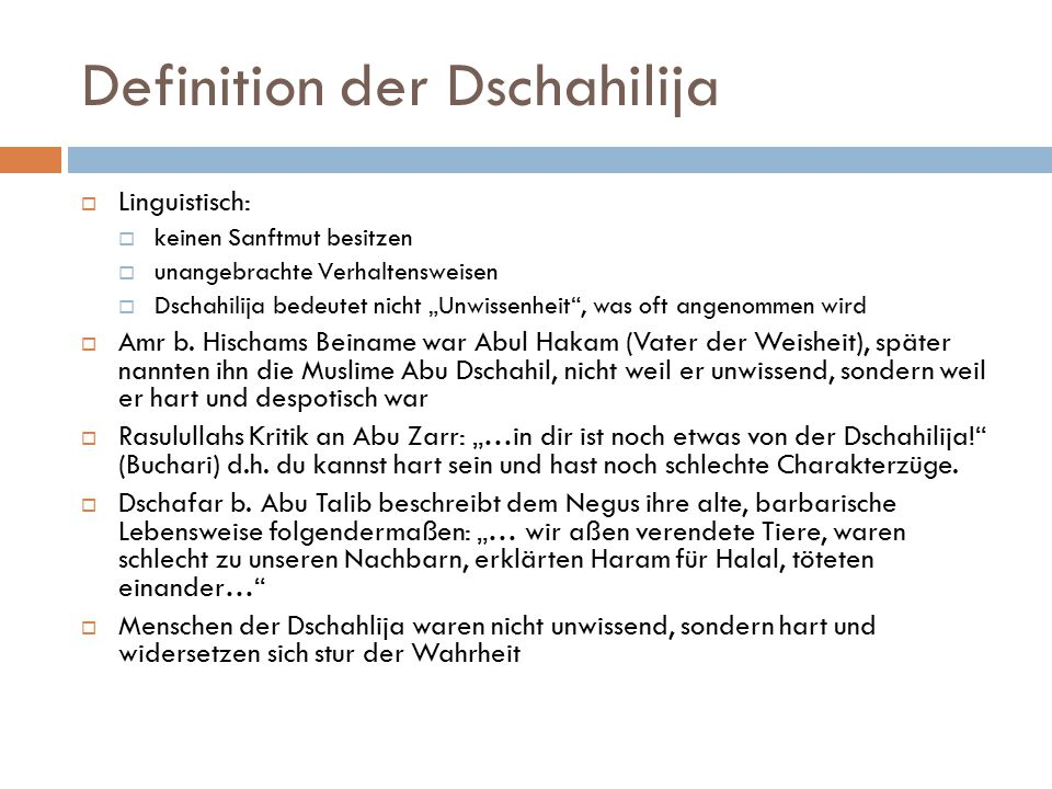 Definition der Dschahilija