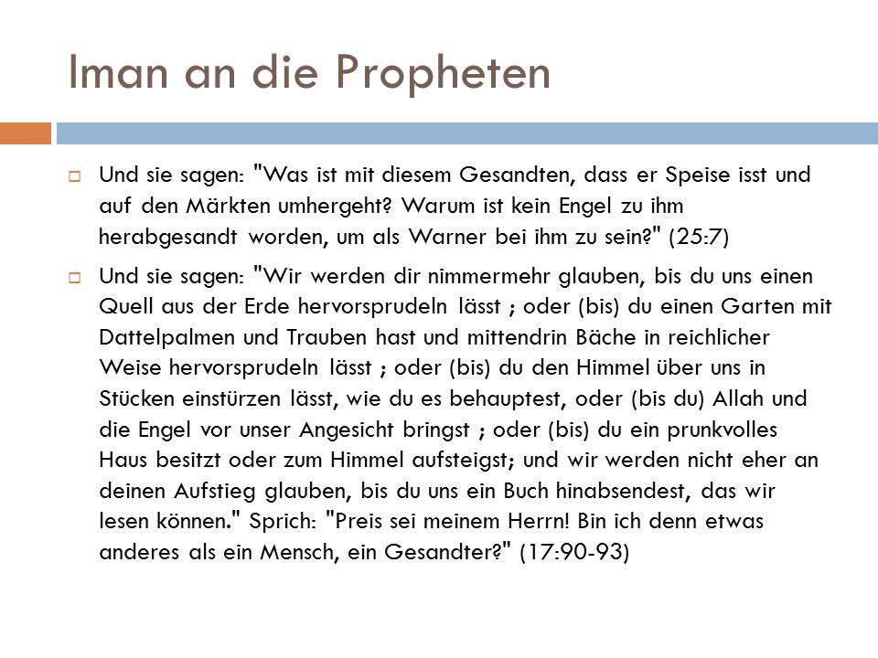 Iman an die Propheten