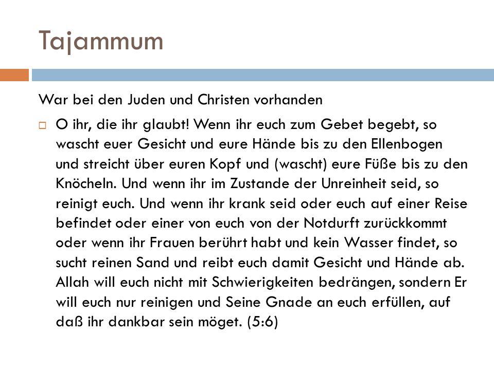 Tajammum War bei den Juden und Christen vorhanden