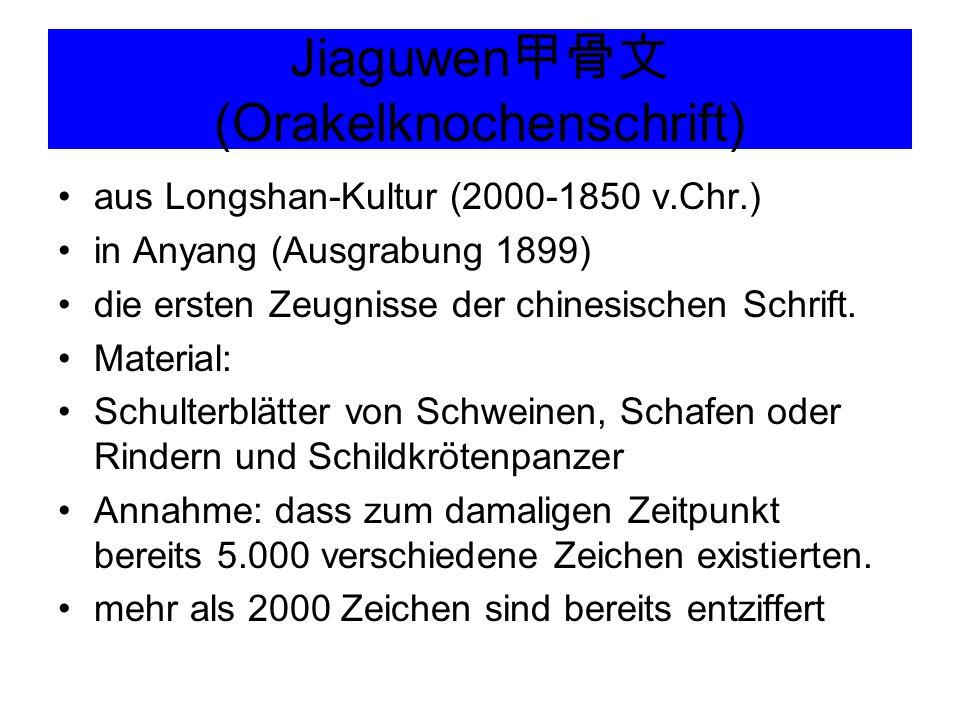 Jiaguwen甲骨文(Orakelknochenschrift)
