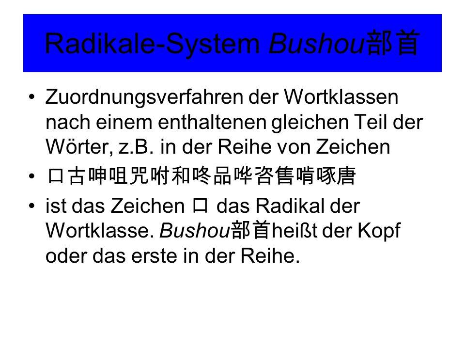 Radikale-System Bushou部首