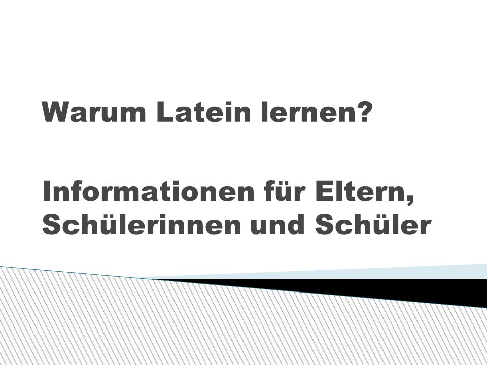 Informationen für Eltern, Schülerinnen und Schüler