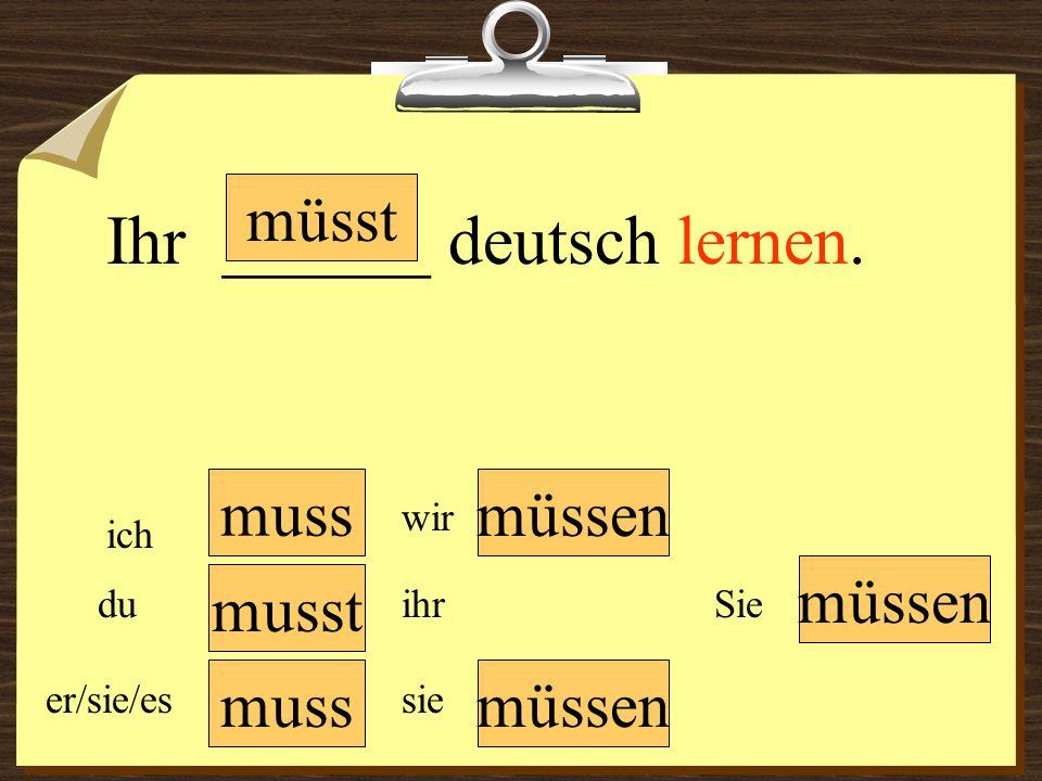 Ihr ______ deutsch lernen.