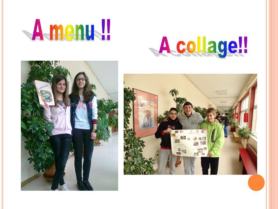 Α menu !! Α collage!!