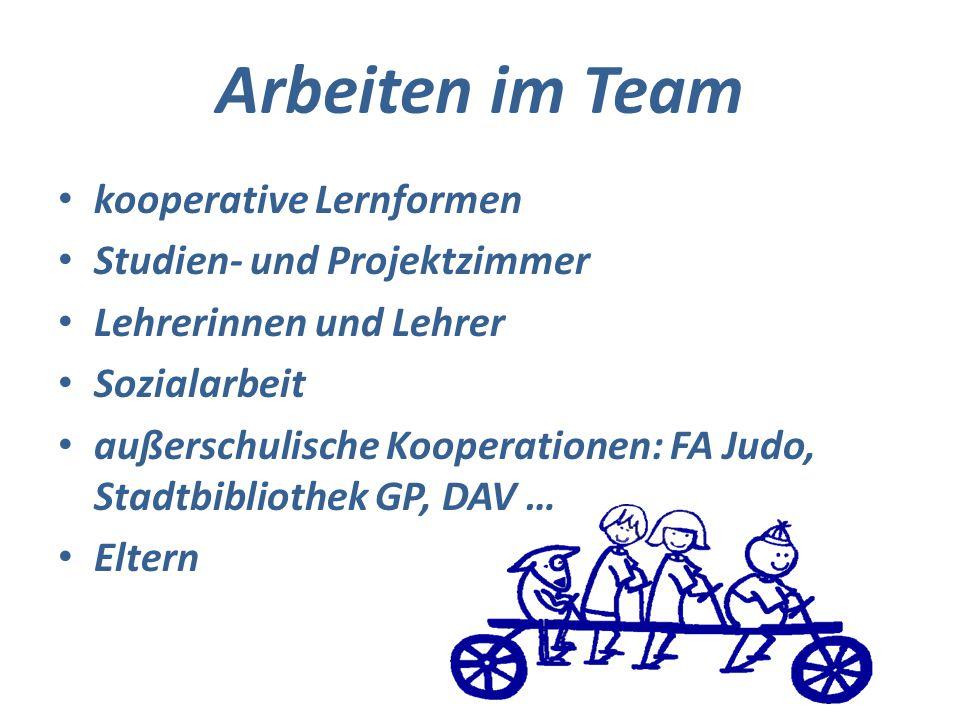 Arbeiten im Team kooperative Lernformen Studien- und Projektzimmer