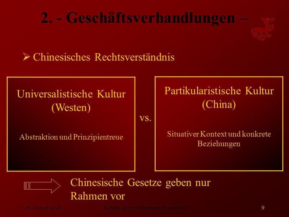 2. - Geschäftsverhandlungen –