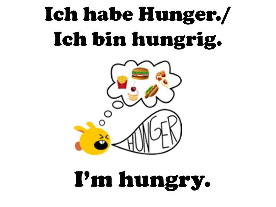Ich habe Hunger./ Ich bin hungrig.