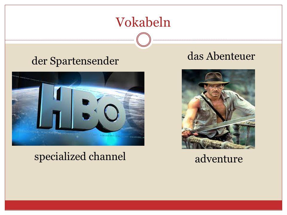 Vokabeln das Abenteuer der Spartensender specialized channel adventure