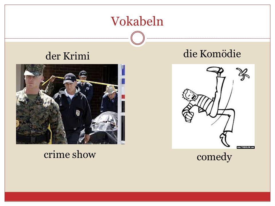 Vokabeln die Komödie der Krimi crime show comedy