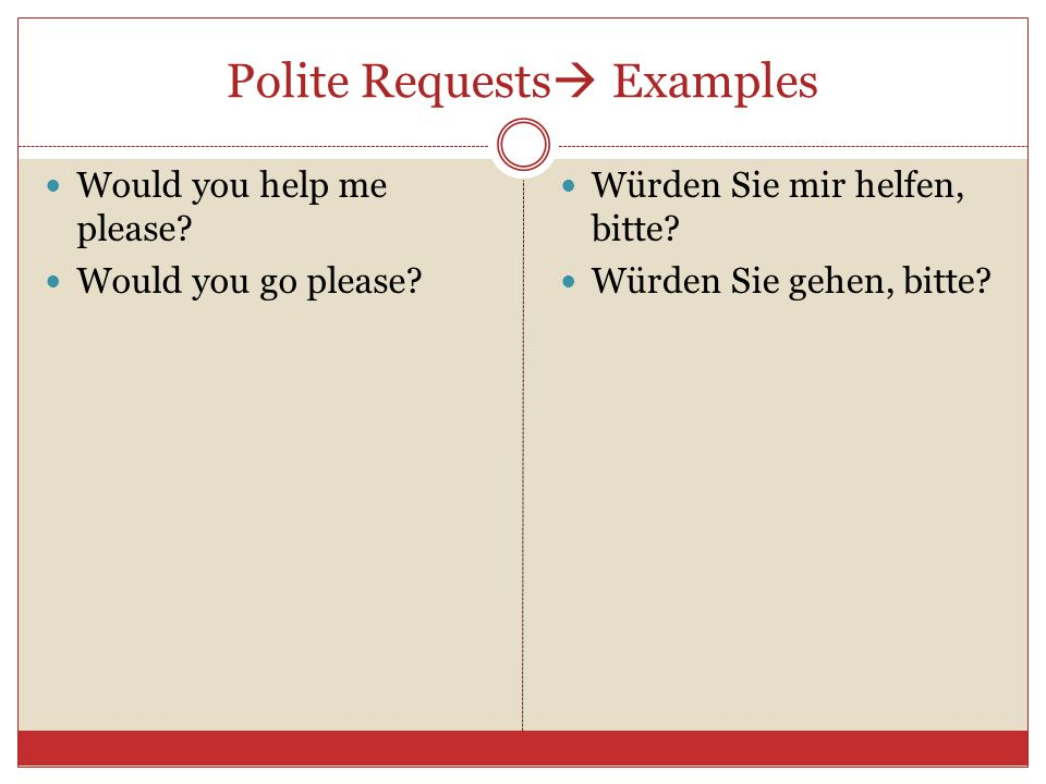 Polite Requests Examples