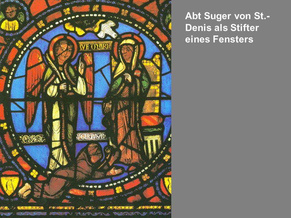 Abt Suger von St.-Denis als Stifter eines Fensters
