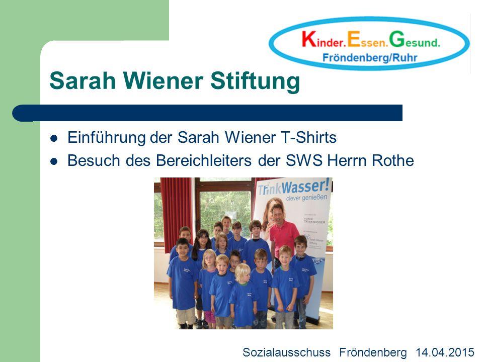 Sarah Wiener Stiftung Einführung der Sarah Wiener T-Shirts