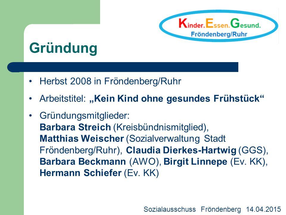 Gründung Herbst 2008 in Fröndenberg/Ruhr