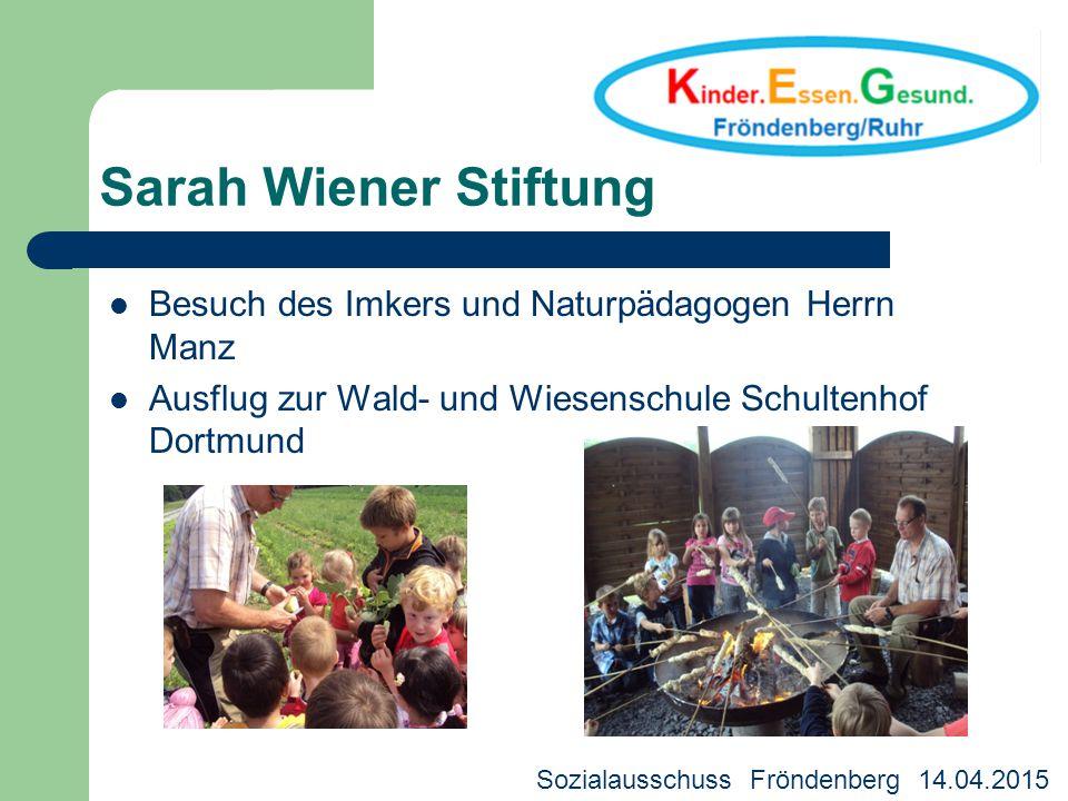 Sarah Wiener Stiftung Besuch des Imkers und Naturpädagogen Herrn Manz