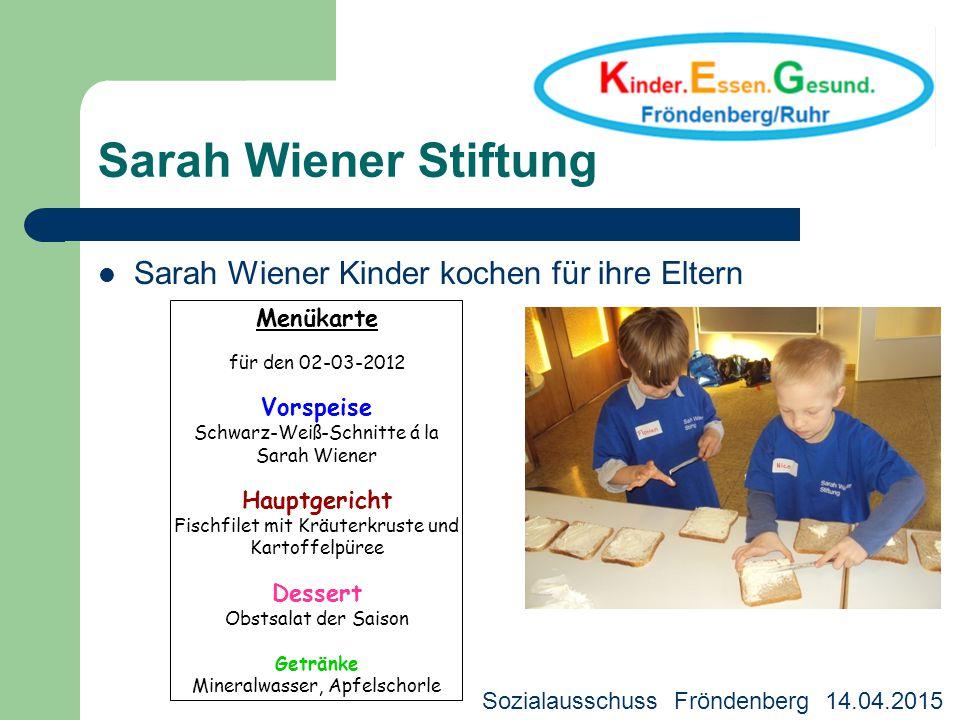 Sarah Wiener Stiftung Sarah Wiener Kinder kochen für ihre Eltern